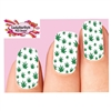 Green Cannabis Pot Marijuana Leaf Set of 10 Waterslide Full Nail Decals