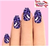 Hodgkin's Lymphoma Purple Awareness Ribbons Set of 10 Waterslide Full Nail Decals