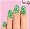 Holiday Christmas Green & Clear Snowflakes Set of 10  Full Waterslide Nail Decals