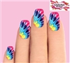 Tye Dye Set of 10 Waterslide Full Nail Decals
