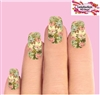 Pink & Blue Vintage Roses Set of 10 Full Waterslide Nail Decals