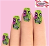 Green Zombie Set of 10 Full Waterslide Nail Decals