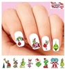 Grinch Stole Christmas Set of 48 Waterslide Nail Decals
