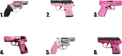 Pink Handgun Revolver Waterslide Nail Decals
