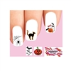 Halloween Assorted Black Cat, Ghost, Spider Web, Bats and Pumpkin #1 Waterslide Nail Decals