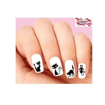 Halloween Scary Black Cat Assorted Waterslide Nail Decals