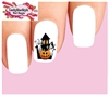 Halloween Haunted House with Ghost & Pumpkin Waterslide Nail Decals