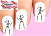 Halloween Skeleton Waterslide Nail Decals
