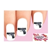 Walther CP99 Black Handgun Waterslide Nail Decals