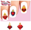 Sacred Heart Assorted Set of 20 Waterslide Nail Decals
