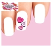 Candy Conversation Hearts Waterslide Nail Decals