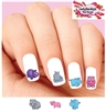 Colorful Hippo Hippopotamus Assorted Set of 20 Waterslide Nail Decals