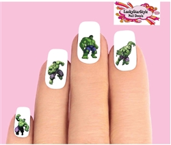 The Incredible Hulk Assorted Set of 20 Waterslide Nail Decals