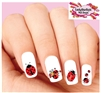 Ladybug Assorted Set of 20 Waterslide Nail Decals