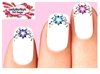 Lilly with Vines Scrolls Assorted Set of 20 Waterslide Nail Decals