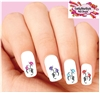 Colorful Lily Assorted Set of 20 Waterslide Nail Decals