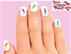 Colorful Lizard Gecko Assorted Set of 20 Waterslide Nail Decals