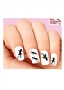 Gecko LIzard Silhouette Assorted Waterslide Nail Decals