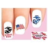 USMC United States Marine Corps Wife Assorted Waterslide Nail Decals