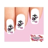 USMC United States US Marine Corps Wife Pink Waterslide Nail Decals