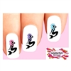 Colorful Mermaid Silhouette Assorted Set of 20 Waterslide Nail Decals