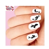 Mermaid Silhouette Assorted Set of 20 Waterslide Nail Decals