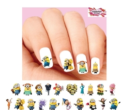 Minions Despicable Me Assorted Set of 20 Waterslide Nail Decals
