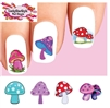 Colorful Mushrooms Assorted Waterslide Nail Decals