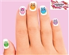Colorful Owl Assorted Set of 20 Waterslide Nail Decals