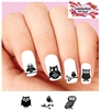 Owl Silhouette Black Assorted Set of 20 Waterslide Nail Decals