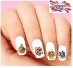Pansy Basket Assorted Set of 20 Waterslide Nail Decals