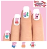 Peppa Pig Assorted Set of 20 Waterslide Nail Decals
