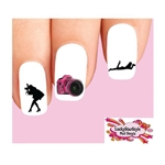 Woman Photographer Photography Camera Assorted Waterslide Nail Decals