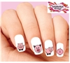 Cute Pink Pigs Assorted Set of 20 Waterslide Nail Decals