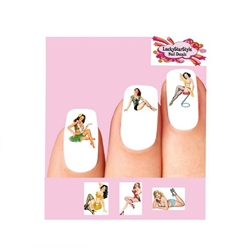Sexy Pin up Girls Assorted #3 Waterslide Nail Decals