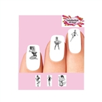 Sexy Pin up Girls Black & White Assorted Waterslide Nail Decals