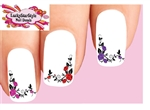 Corner Roses with Vines Assorted Set of 20 Waterslide Nail Decals