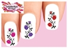 Roses with Vines Assorted Set of 20 Waterslide Nail Decals
