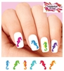 Colorful Seahorses Assorted Set of 20 Waterslide Nail Decals