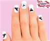 Snowmobile Silhouettes Assorted Set of 20 Waterslide Nail Decals