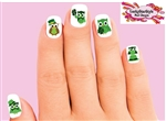 St Patrick's Day Owls Shamrock Assorted Set of 20 Waterslide Nail Decals