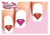 Superman Assorted Set of 20 Waterslide Nail Decals