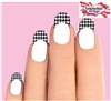 Houndstooth Tips Black & Clear Set of 10 Waterslide Nail Decals