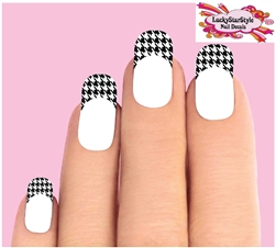 Houndstooth Tips Waterslide Nail Decals