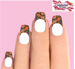Orange Mossy Oak Camo Camouflage Tips Waterslide Nail Decals