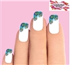 Peacock Feathers Tips Waterslide Nail Decals Set of 10