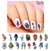 Trolls World Tour Poppy, Biggie, Branch Assorted Waterslide Nail Decals