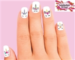 Unicorn Faces Assorted Set of 20 Waterslide Nail Decals
