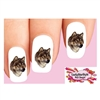 Brown Wolf Waterslide Nail Decals