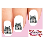 Grey Wolf Waterslide Nail Decals